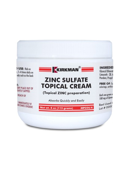 Kirkman Zinc Sulfate Topical Cream