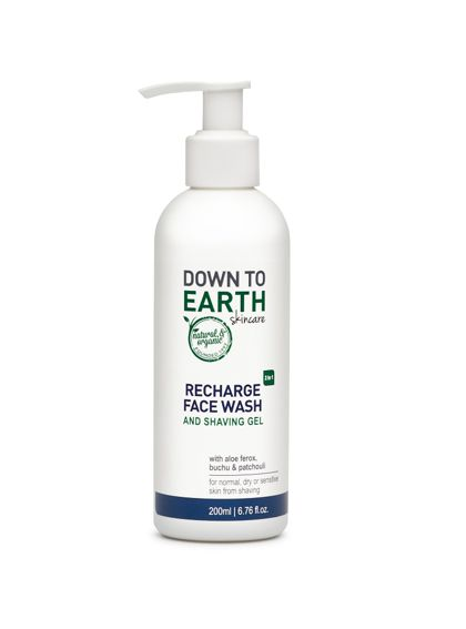 Down to Earth Recharge Face Wash & Shaving Gel